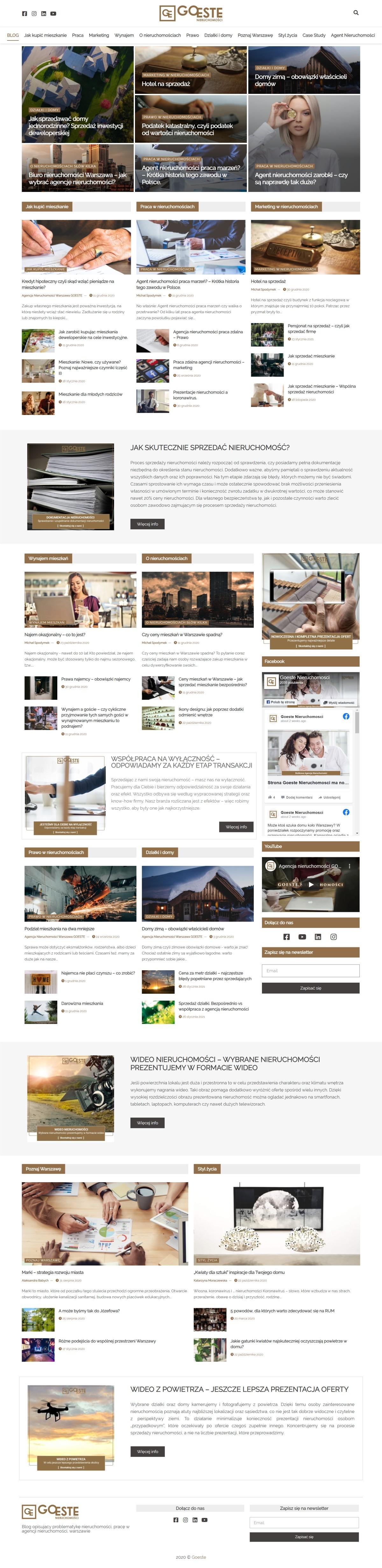Tworzenie Blogu Firmowego. Agencja Nieruchomości
