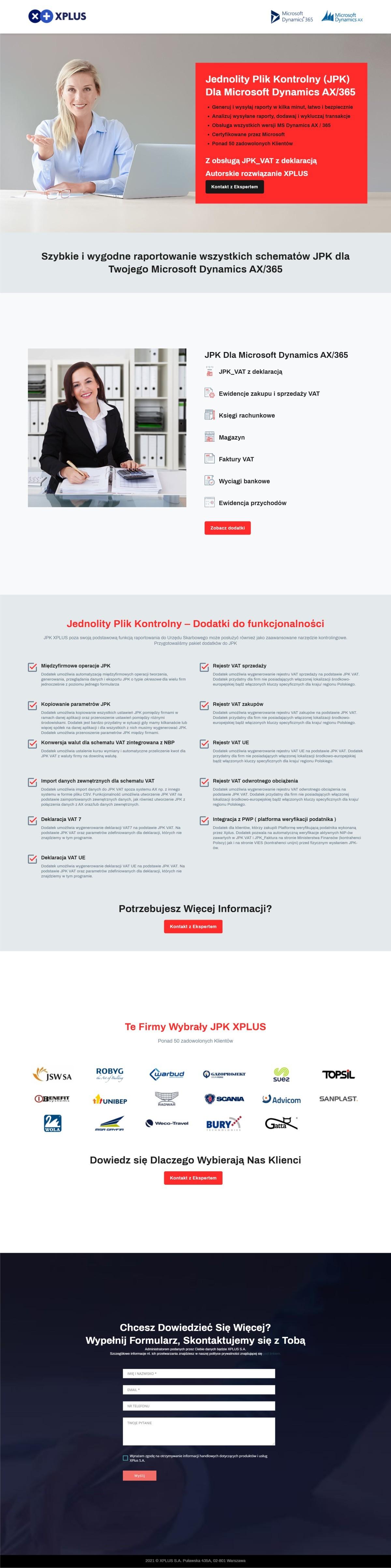 Tworzenie Landing Page. Oferowanie Oprogramowania Dla Firm