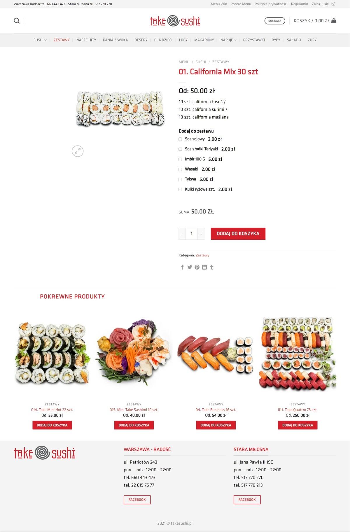 Tworzenie Sklepu Internetowego. Sprzedaż Jedzenia. Restauracja Sushi