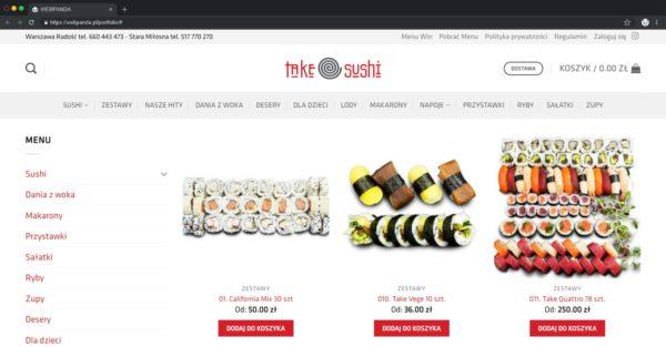 Tworzenie Sklepu Internetowego. Restauracja. Sprzedaż Sushi tworzenie sklepu internetowego,tworzenie sklepu wordpress,tworzenie sklepu woocommerce Tworzenie Sklepu Internetowego Sprzedaz Jedzenia Restauracja Sushi Webpanda webpanda