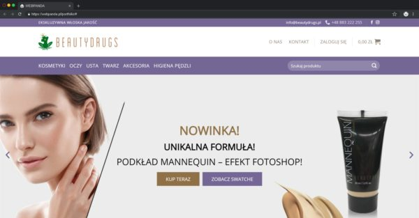 Tworzenie Sklepu Internetowego. Sprzedaż Kosmetyki
