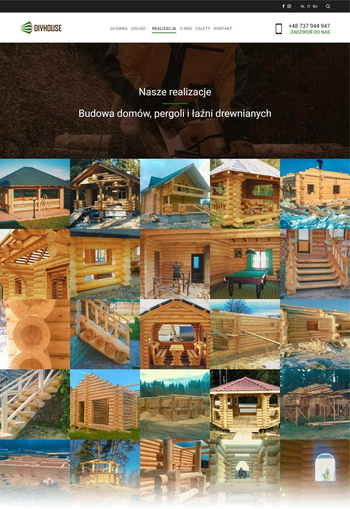 Tworzenie Strony Dla Firmy. Budowa Domów Drewnianych