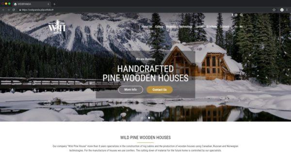 Tworzenie Strony Firmowej. Budowa Domów Drewnianych