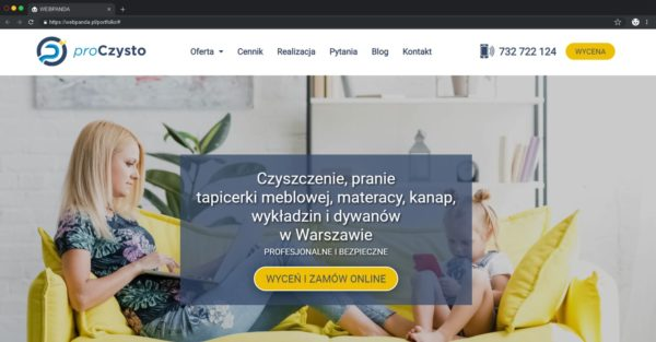 Tworzenie Strony Internetowej Dla Firmy Piorącej Opartej O WordPress